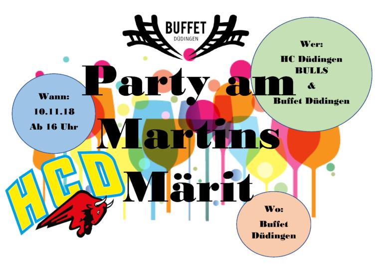 Party am Martinsmarkt!